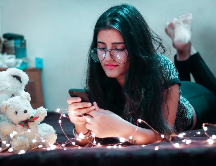lady texting