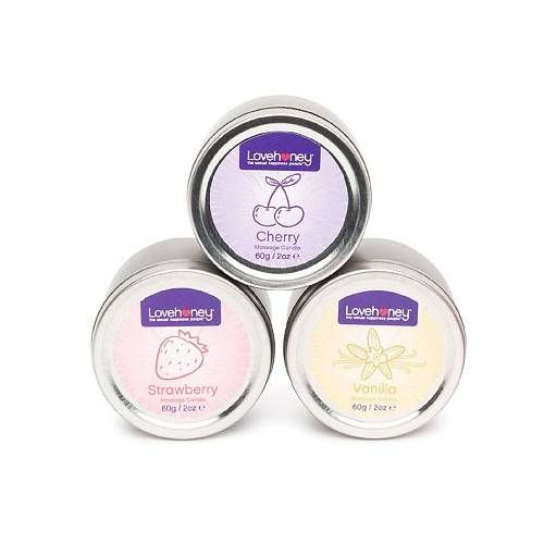 Lovehoney Sweet Glow Massage Candle Gift Set 3