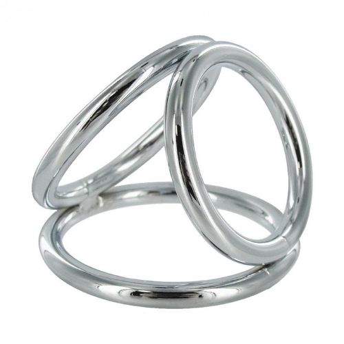 The Triple Cock Ring | Metal Three Ring Triad Cock and Ball Device For Men